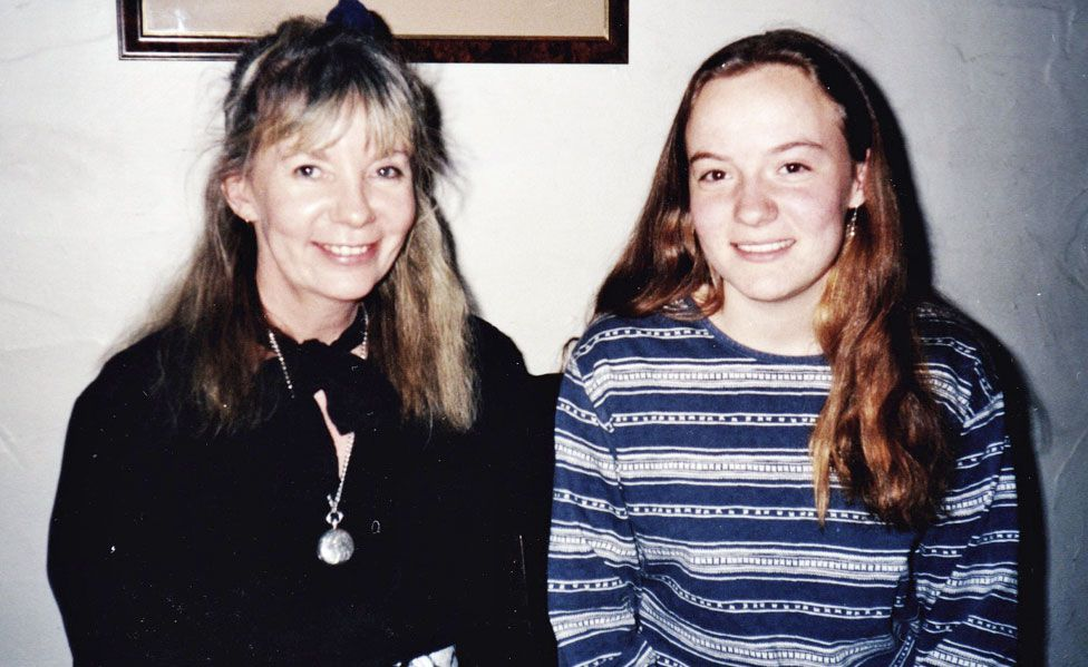 Penny Wincer and her mother in 1993