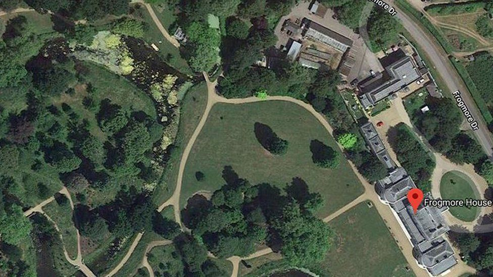 Frogmore House from Google Earth