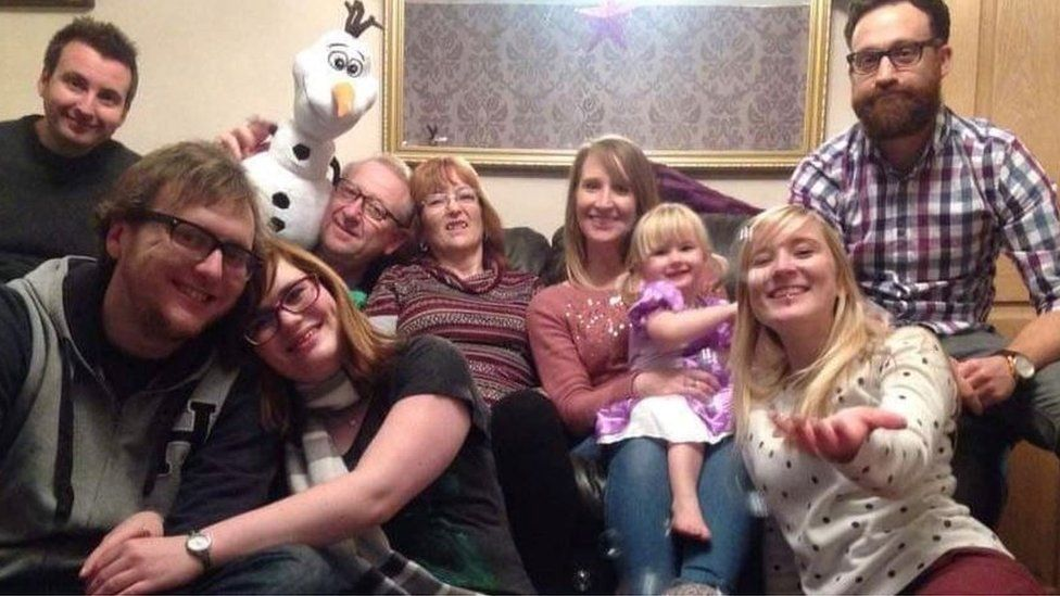 Sarah and Chris's family in happier times