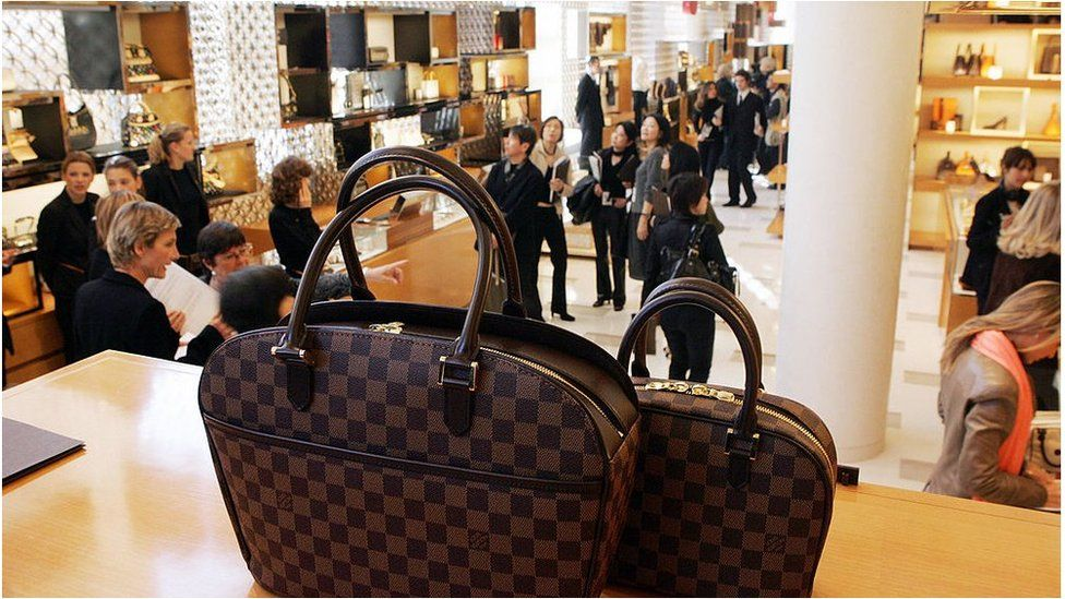 LVMH bags and store