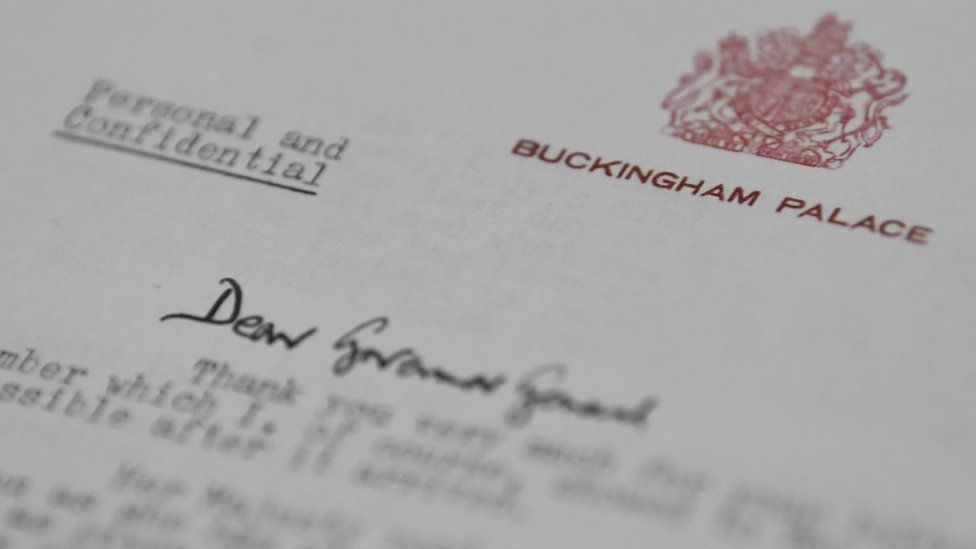 Letter from Queen's private secretary addressed to the governor-general