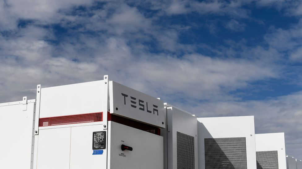 Tesla batteries at the United Power plant in Colorado