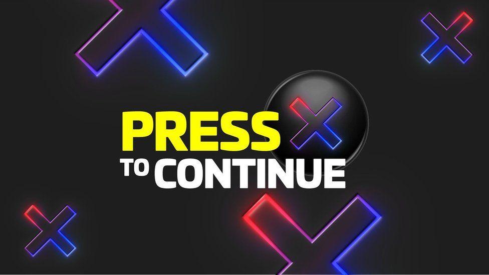 Press X to Continue logo