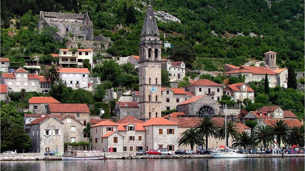 Coastal town in Montenegro