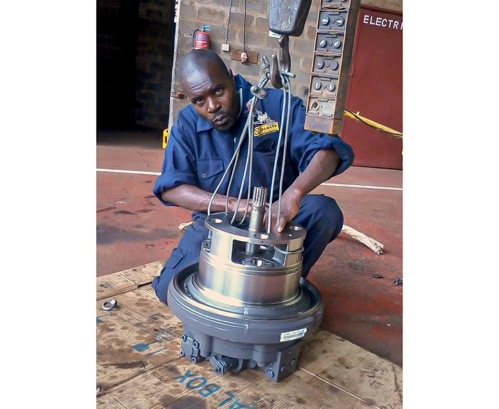 Wycliffe Ochieng back in his days at the Spencon plant