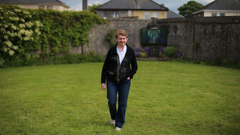 Catherine Corless at the site in 2014