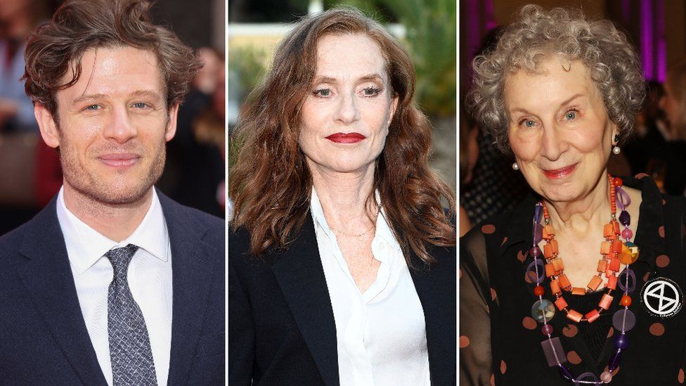 James Norton, Isabelle Huppert, and Margaret Atwood