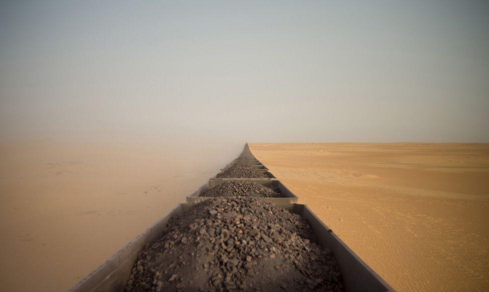Train in the Sahara