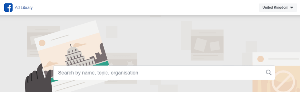 Facebook's Ad library