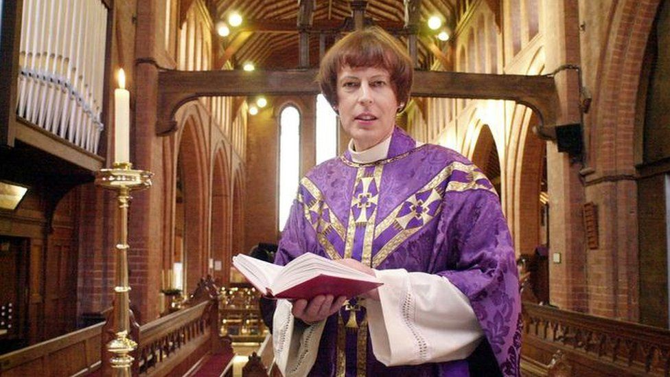 Reverend Carol Stone who had a sex change operation