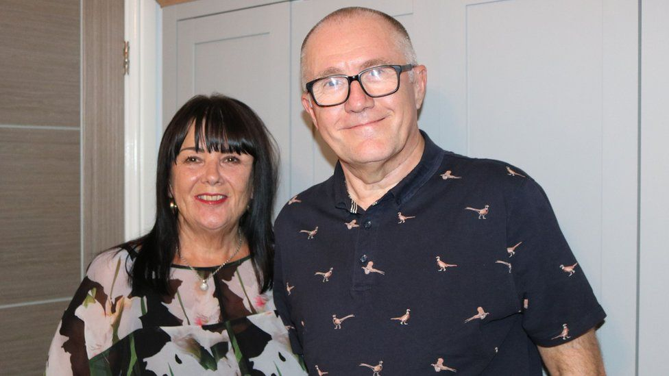 Vince Kitching and his wife Helen