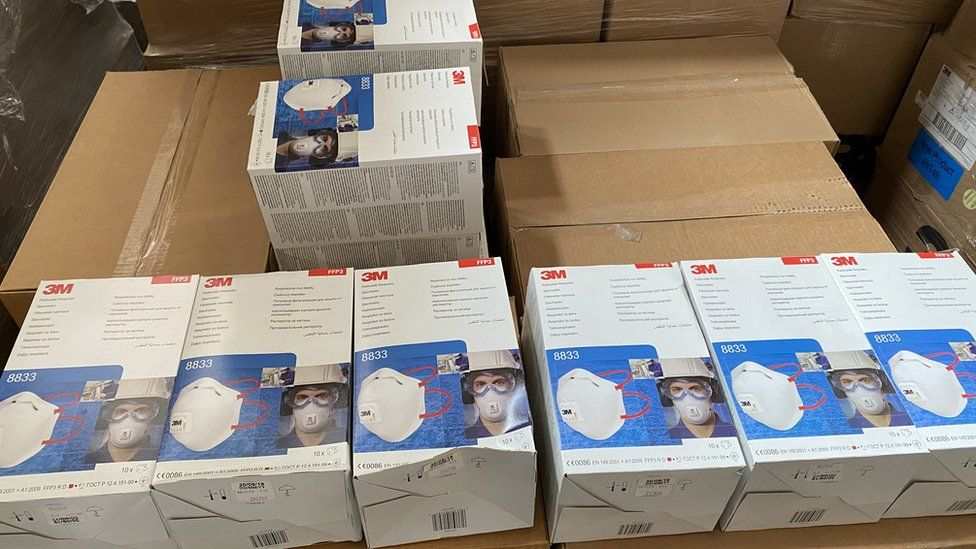 A consignment of PPE arrives in Northern Ireland on Monday