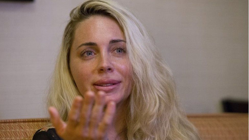 Mindy MCGillivray, who accuses Donald Trump of groping her at his Mar-a-Lago resort, 14 October 2016