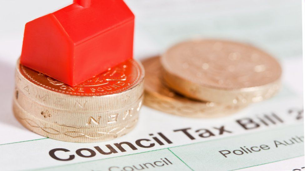 Stock illustration of a council tax bill