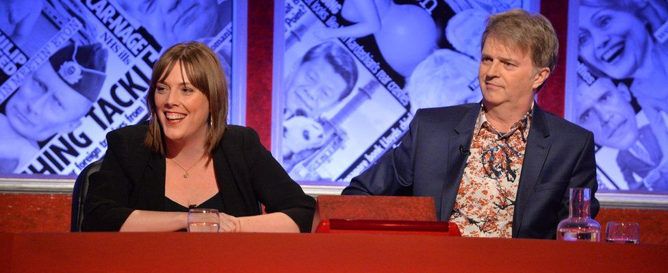 Jess Phillips and Paul Merton on Have I Got News For You
