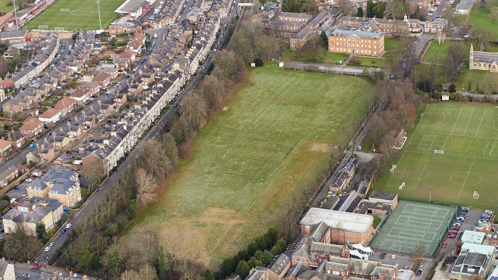 Aerial view of Bootham Park Hospital