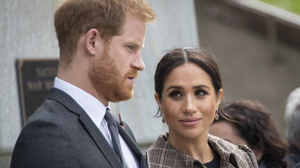 The Duke and Duchess of Sussex at the UK war memorial and Pukeahu National War Memorial Park