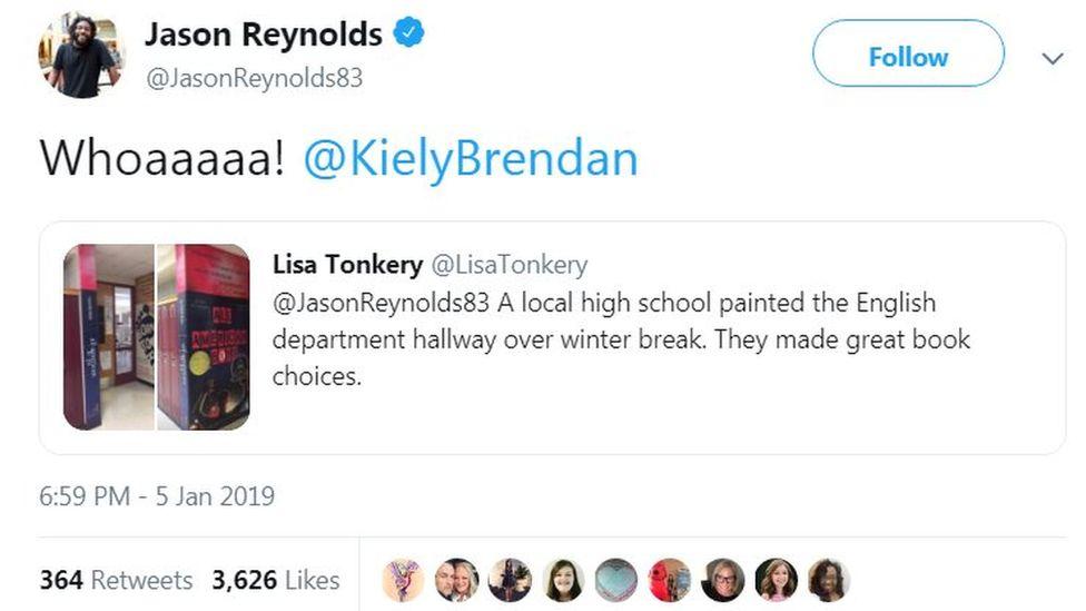 Screen grab from Jason Reynolds on Twitter