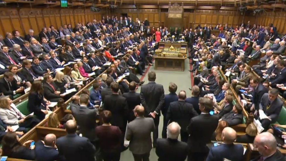 Mps gathered for Prime Minister's Questions in the House of Commons