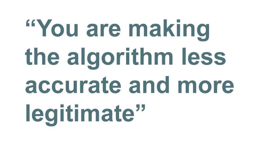 Quotebox: You are making the algorithm less accurate and more legitimate