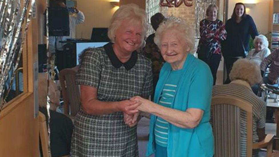 Janet Burns (left) with her mum Silvia Bonser
