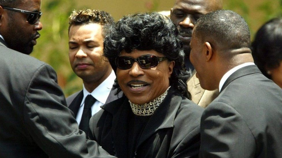 Little Richard at funeral of Ray Charles