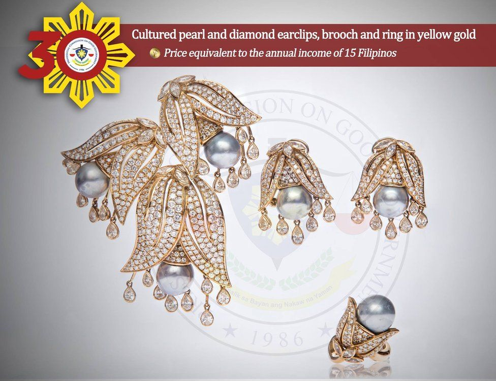 Image of earrings from the Philippines Commission on Good Government