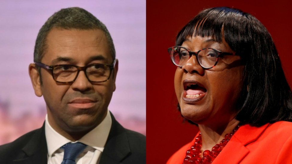 James Cleverly and Diane Abbott