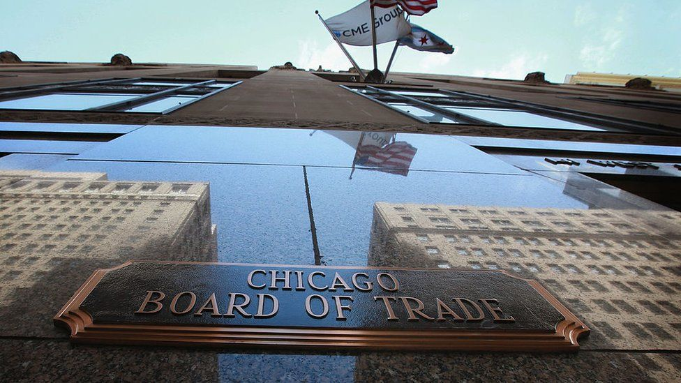 The Chicago Board of Trade Building on April 24, 2012 in Chicago, Illinois