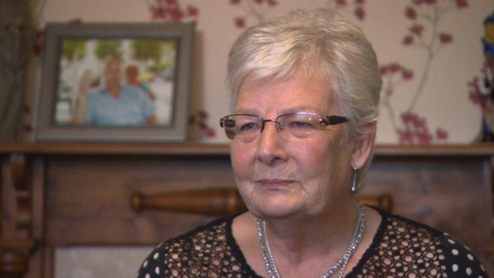 Margaret Cooper speaking to the BBC