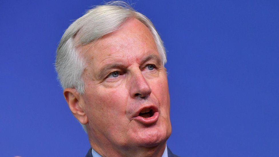 EU Chief Brexit Negotiator Michel Barnier speaks during a press conference in Brussels on 31 August 2018