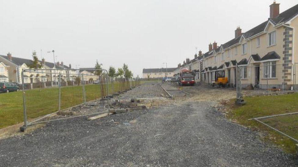 Unfinished housing in Clochran, Tuam, Galway