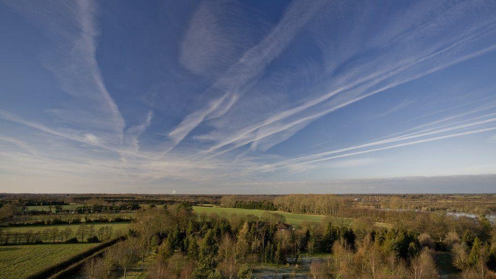 The flat landscape of the Norfolk Broads