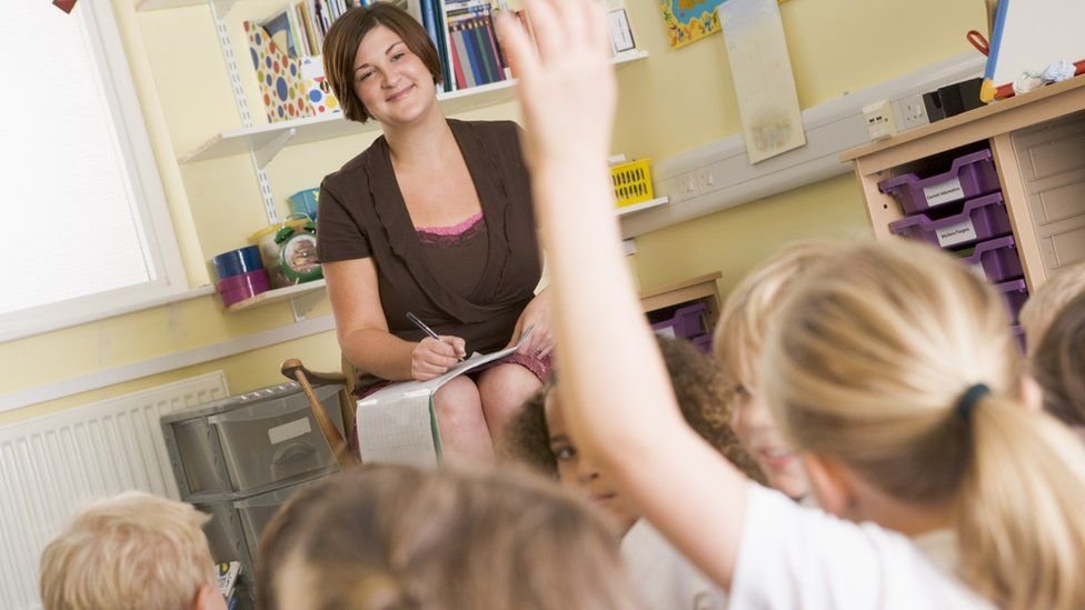 teacher and pupils