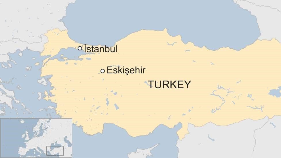 map of turkey showing Istanbul and Eskisehir