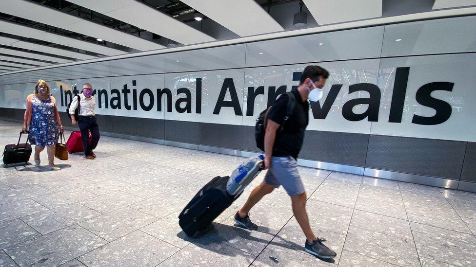 Passengers at Heathrow