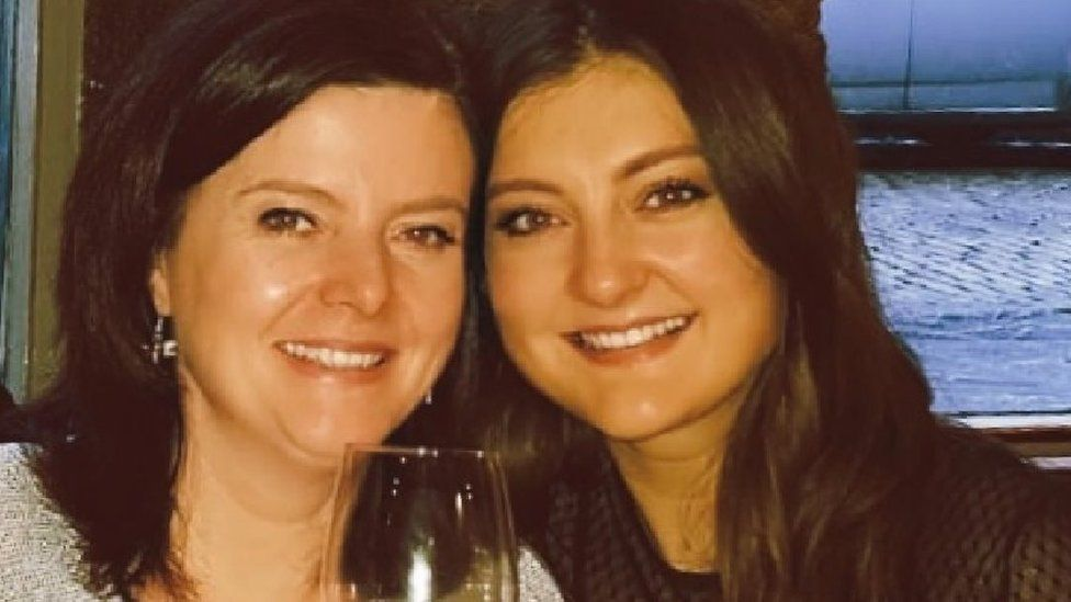 Gemma Moore and her mother