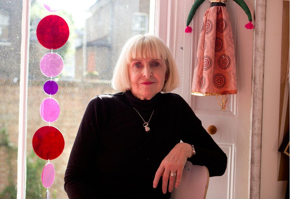 Geraldine Crimmins at her home in London