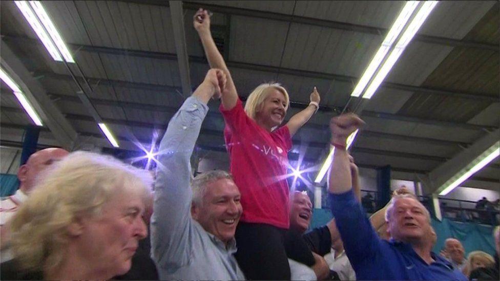 Leave voters in Sunderland during the 2016 referendum