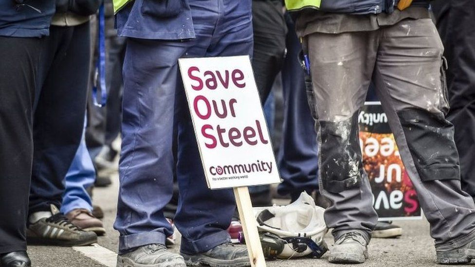 Steel workers rally in 2016