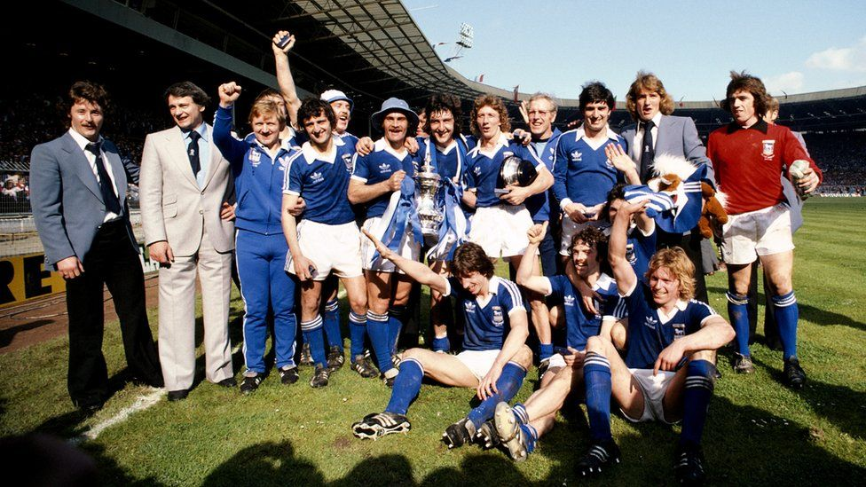 Bobby Robson and Ipswich Town, winners of the FA Cup in 1978