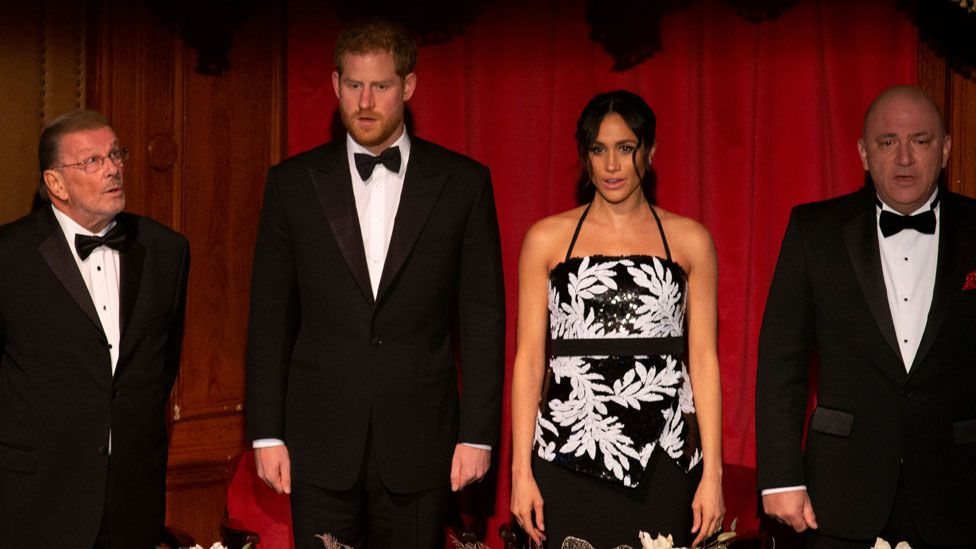 The Duke and Duchess of Sussex at the Royal Variety Performance