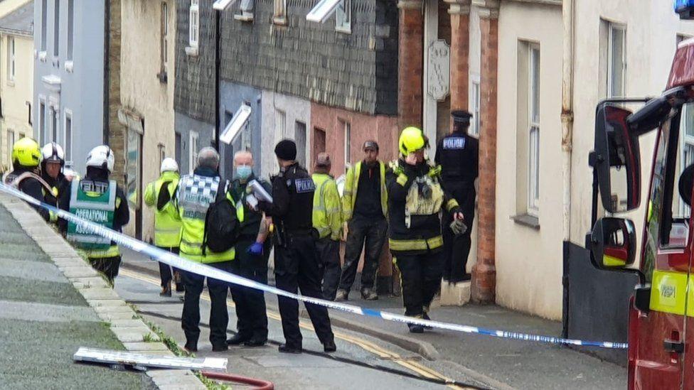 Scene at Church Street in Kingsbridge