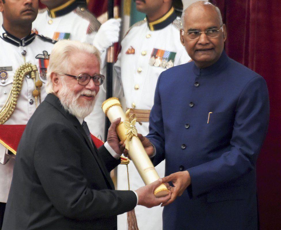 Nambi Narayanan with President Ramnath Kovind