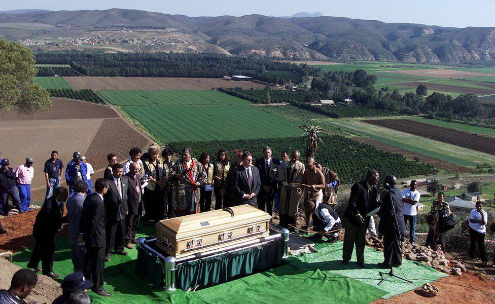 Baartman's funeral