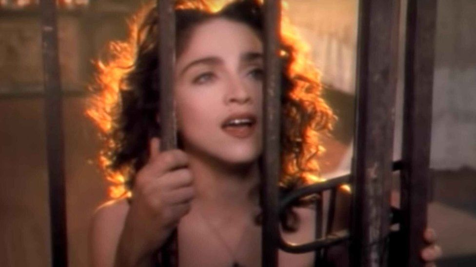 Madonna in the video for Like A Prayer