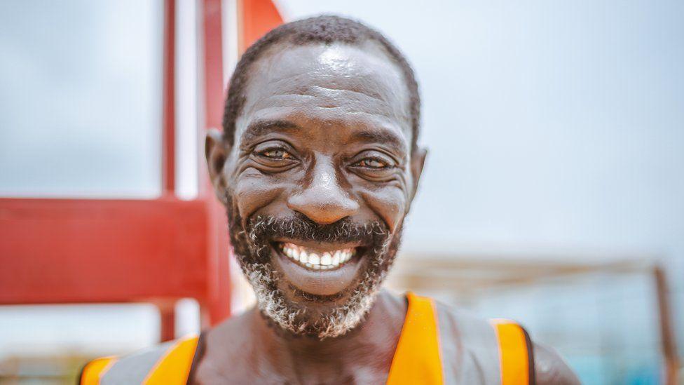 Lifeguard Nicholas Paul in Lagos, Nigeria
