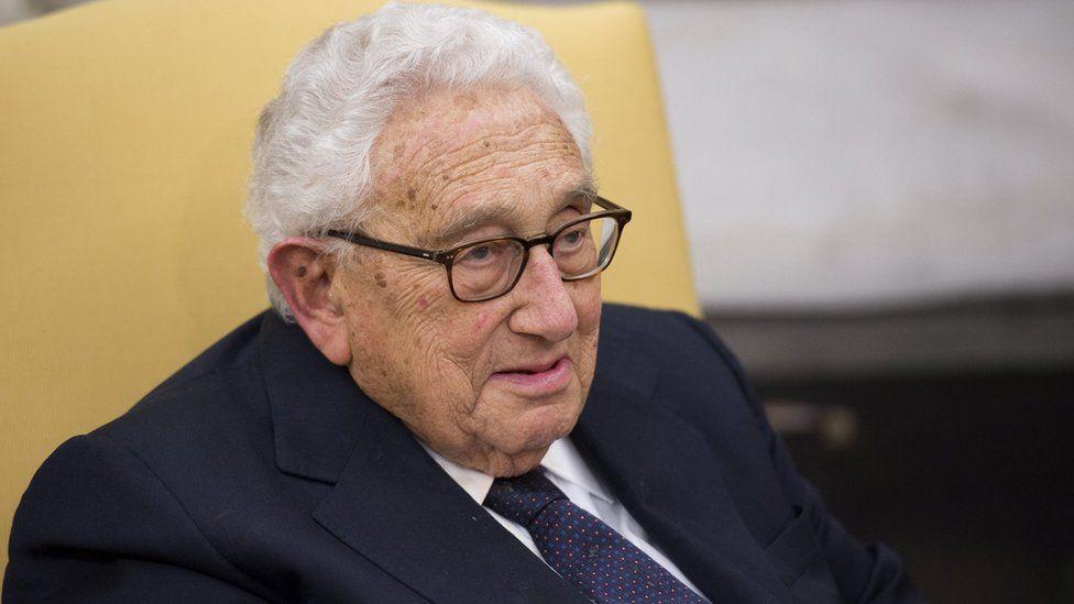 Former Secretary of State Henry Kissinger in the Oval Office