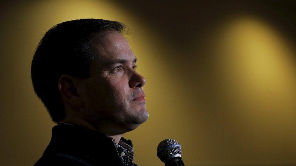 Republican presidential hopeful Marco Rubio