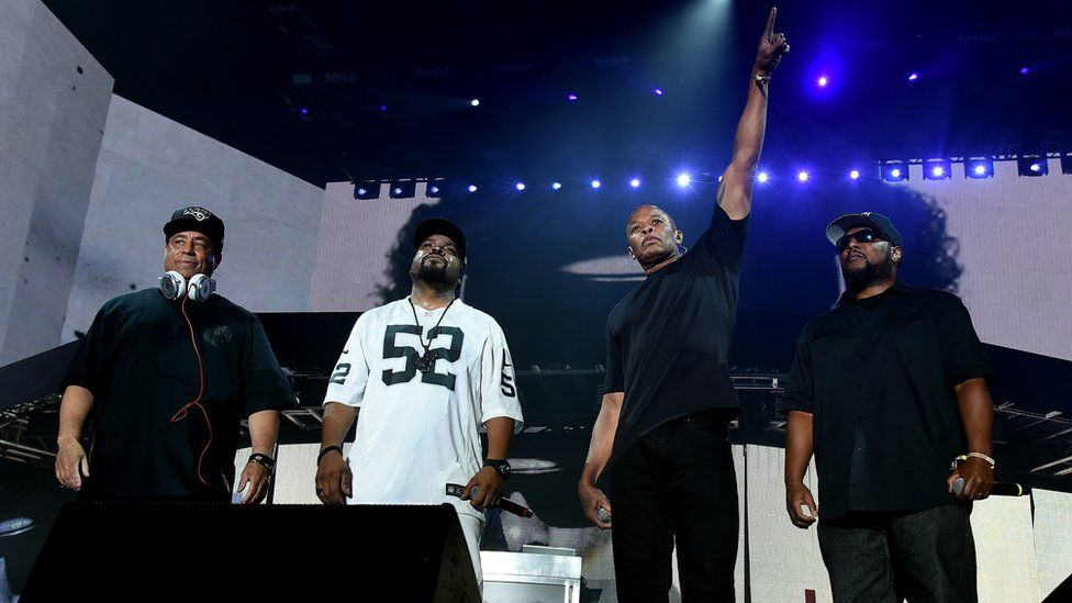 Members of NWA on stage